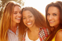 Portrait Of Three Female Friends On Holiday� Stock Photos