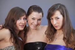 Portrait of three friends Stock Photos