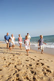 Portrait Of Three Generation Family On Beach Royalty Free Stock Images