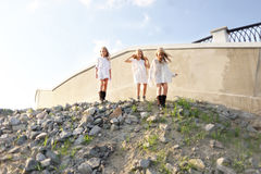 Portrait of three girlfriends Stock Photo