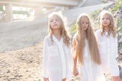 Portrait of three girlfriends Royalty Free Stock Photos