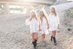 Portrait of three girlfriends Royalty Free Stock Image