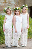 Portrait of three girls Stock Photo
