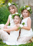 Portrait of three girls Royalty Free Stock Photography