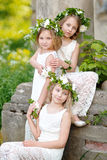 Portrait of three girls Royalty Free Stock Photos