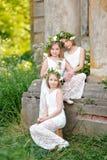 Portrait of three girls Stock Photo