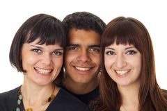 Portrait of three happy friends Royalty Free Stock Images
