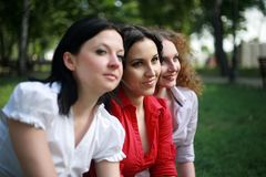 Portrait of three ladies Royalty Free Stock Photos