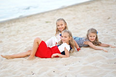 Portrait of three little girls Royalty Free Stock Images