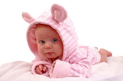 Portrait of three months old baby girl Stock Image