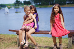 Portrait of three sisters Royalty Free Stock Photos