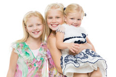 Portrait of three sisters Stock Photography