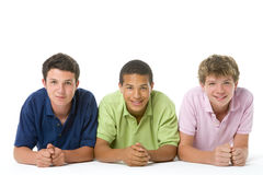 Portrait Of Three Teenage Boys Stock Photo