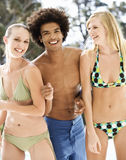 Portrait of three teenage friends Royalty Free Stock Photography