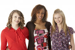 Portrait Of Three Teenage Girls Royalty Free Stock Image