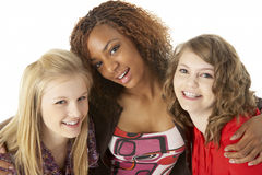 Portrait Of Three Teenage Girls Royalty Free Stock Photos