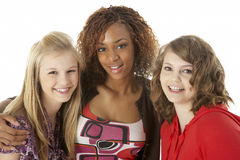 Portrait Of Three Teenage Girls Royalty Free Stock Images