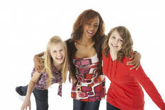 Portrait Of Three Teenage Girls Stock Image