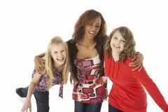 Portrait Of Three Teenage Girls Stock Image
