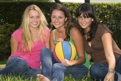 Portrait of three teenager Royalty Free Stock Image