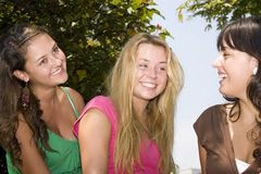 Portrait of three teenagers Royalty Free Stock Photography