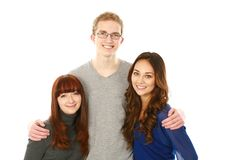 Portrait of three teens Royalty Free Stock Images