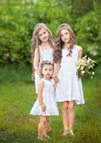Portrait of three young girlfriends Stock Photo