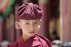 Portrait Tibetan Buddhist young monk in Hemis monastery, Ladakh, North India Stock Image