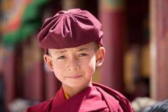 Portrait Tibetan Buddhist young monk in Hemis monastery, Ladakh, North India Stock Photos