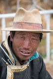 Portrait of a Tibetan man smiling Royalty Free Stock Photography
