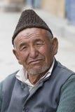 Portrait tibetan old man on the street in Leh, Ladakh. India Stock Photo