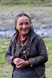 Portrait of Tibetan woman Royalty Free Stock Photography