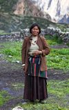 Portrait of Tibetan Woman Stock Image