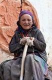 Portrait of Tibetan Woman Stock Images