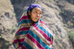 Portrait of tibetan woman in Himalaya Mountains Stock Photos