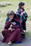 Portrait of Tibetan woman in national clothes Royalty Free Stock Photography
