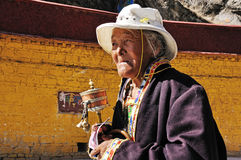 Portrait of Tibetan woman Royalty Free Stock Photo