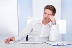 Portrait Of Tired Businessman Stock Photos