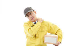 Portrait of tired worker royalty free stock image