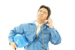 Portrait of tired worker Royalty Free Stock Photo