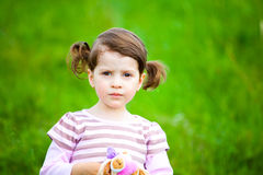 Portrait of a toddler royalty free stock photos