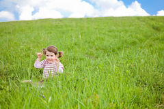 Portrait of a toddler Stock Images