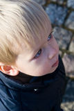 Portrait of a toddler from above Royalty Free Stock Photos