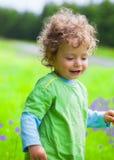 Portrait of toddler boy outdoor Stock Photos