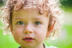 Portrait of toddler boy outdoor Stock Images
