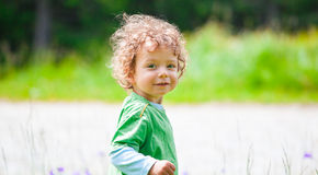 Portrait of toddler boy outdoor Stock Image