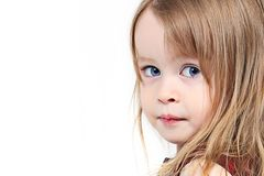 Portrait of toddler girl Stock Photos