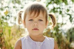 Portrait of toddler girl Royalty Free Stock Images