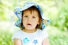 Portrait of toddler girl Royalty Free Stock Photos