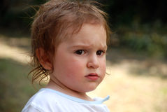 Portrait of toddler outdoors Stock Image